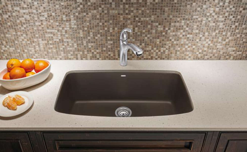 Blanco 441611 Valea Super Single Bowl Granite Composite Sink - Cinder