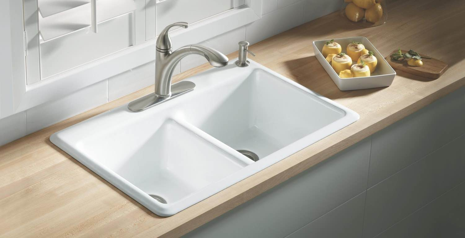 types of sinks for kitchen cast iron sinks guide the kitchen sink handbook 8636