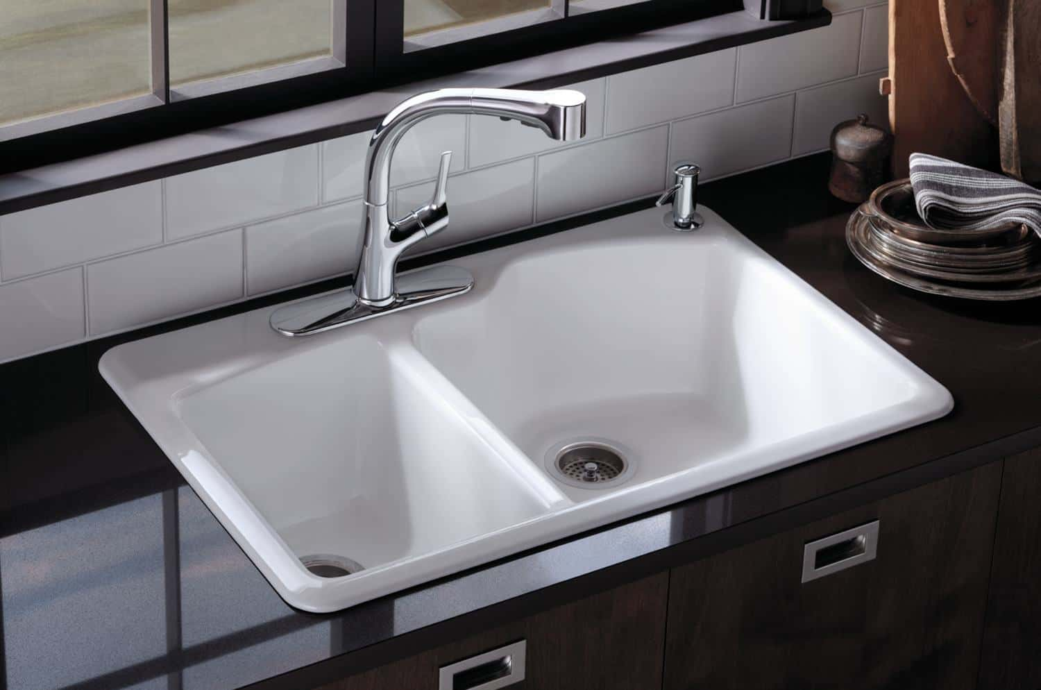 Top Kitchen Sinks Types of kitchen sinks read this before you buy kohler k 5870 2 58 wheatland top mount sink workwithnaturefo