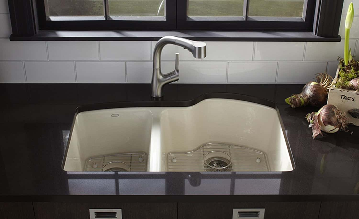 kohler k 5870 5u 7 wheatland - Cast Iron Kitchen Sinks