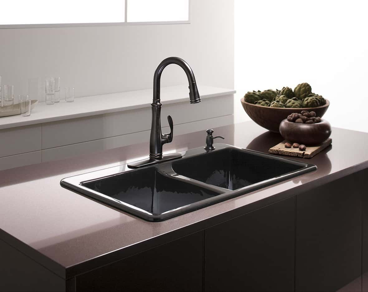 Cast Iron Kitchen Sink Manufacturers Cast iron sinks quick guide the kitchen sink handbook basin kohler k 5873 4 0 deerfield workwithnaturefo