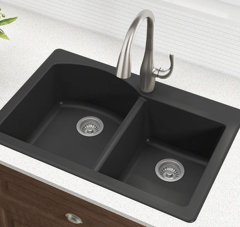 Kraus Forteza Drop In Kitchen Sink Black