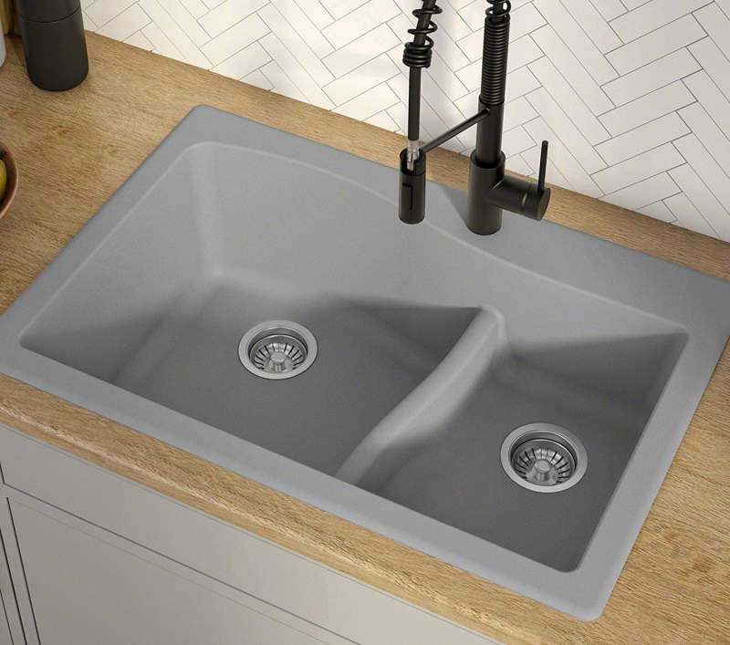 Drop-In Kitchen Sinks Buyer's Guide + Design Ideas & Pictures on