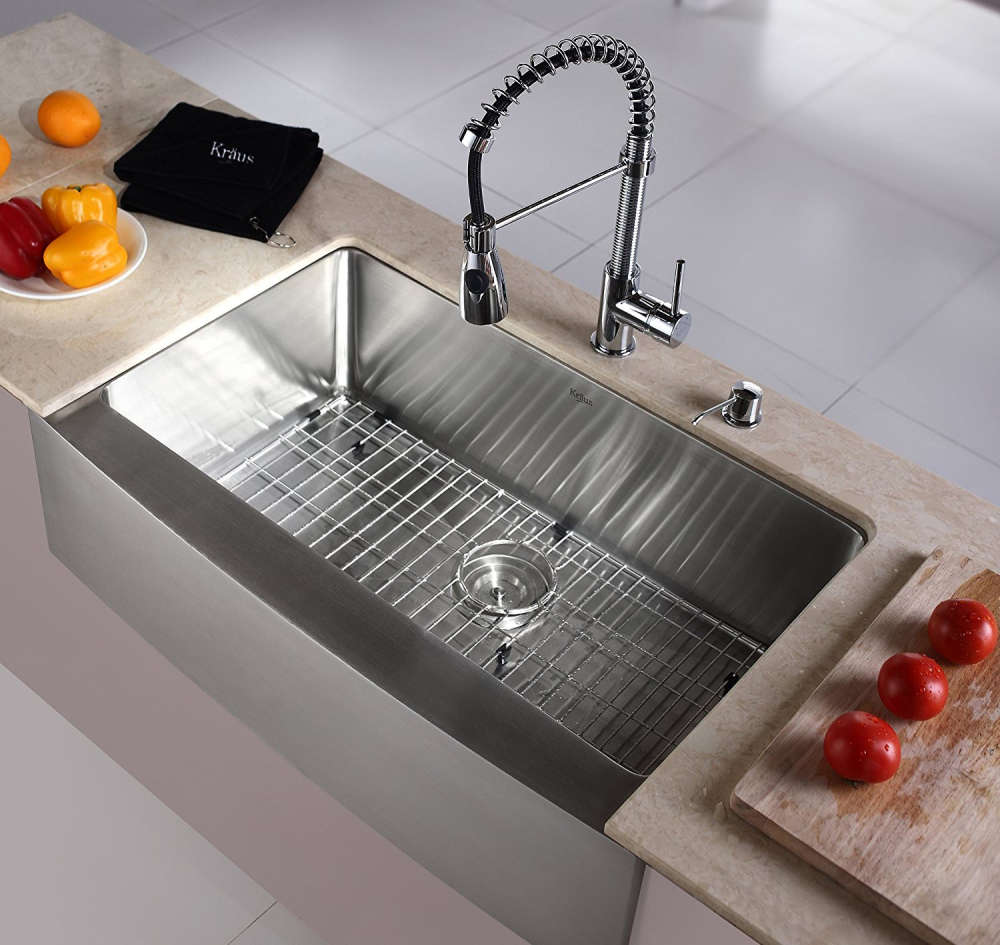 Kraus KHF200 33 Farmhouse Single Bowl Stainless Steel Sink
