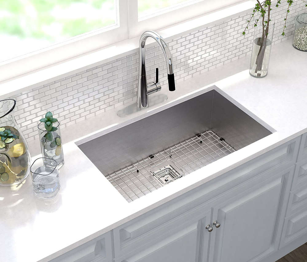 Kraus KHU32 Pax Single Bowl Stainless Steel Kitchen Sink