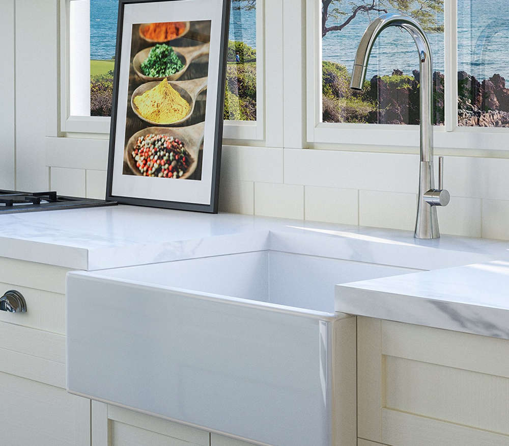 Fireclay Farmhouse Kitchen Sink
