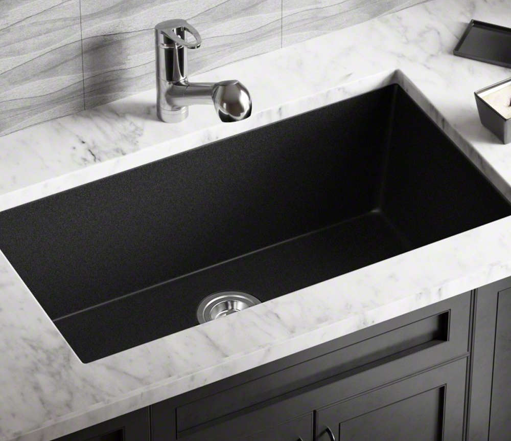 black granite kitchen sinks franke sink installation granite sink ideas 4682
