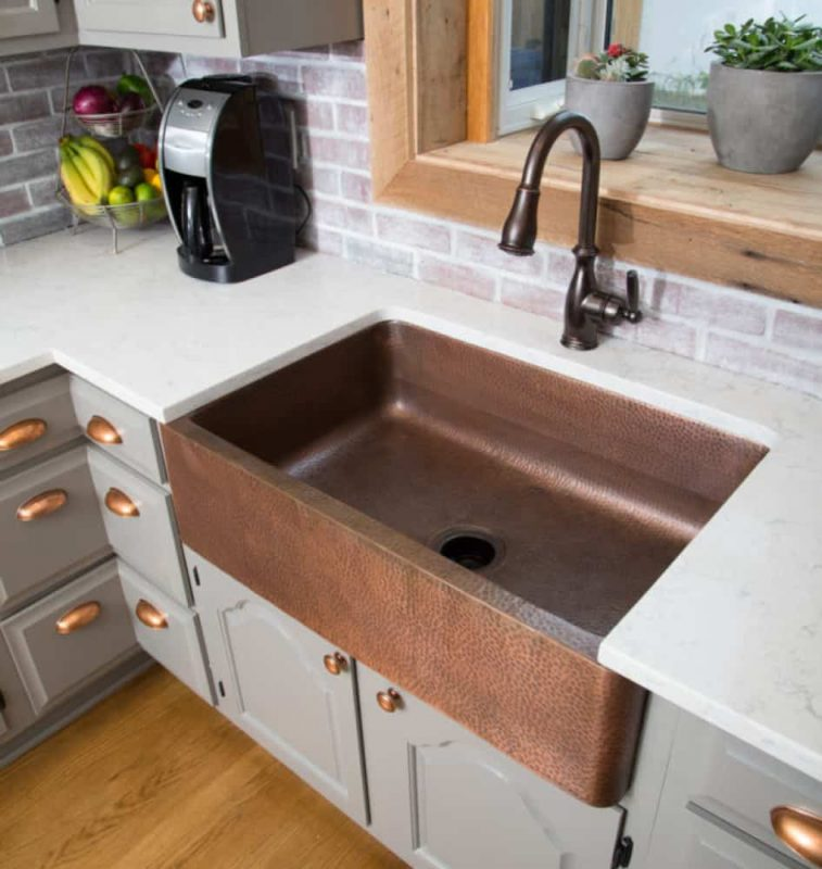 Sinkology Adams Farmhouse Sink Copper