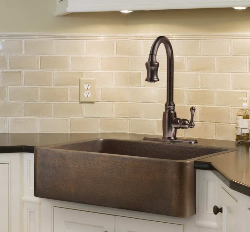 Sinkology Adams Farmhouse Copper Kitchen SInk