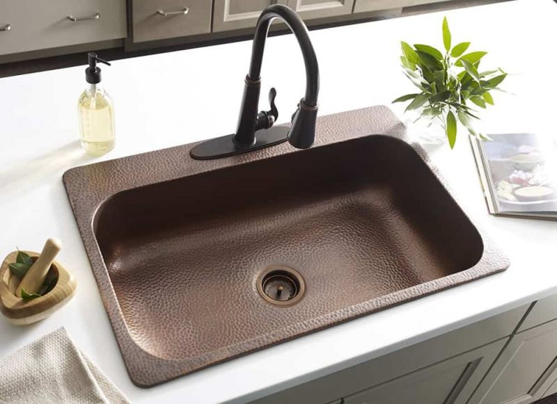 Sinkology Angelico Copper Kitchen Sink