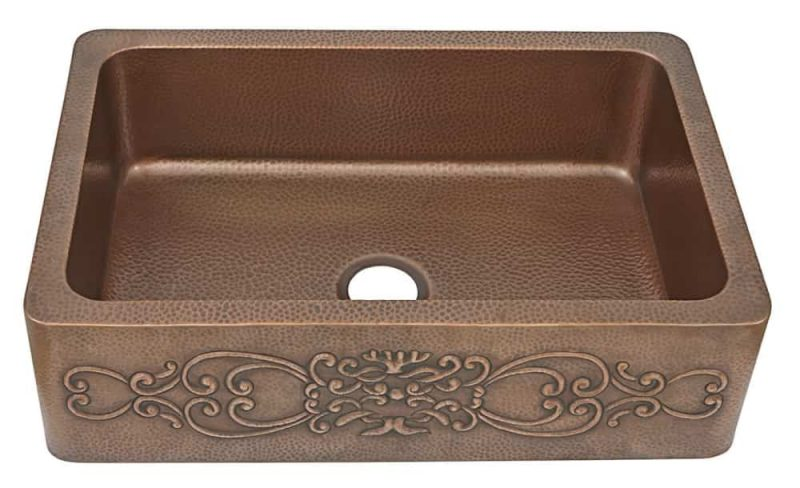 Sinkology Ganku Farmhouse Copper Sink