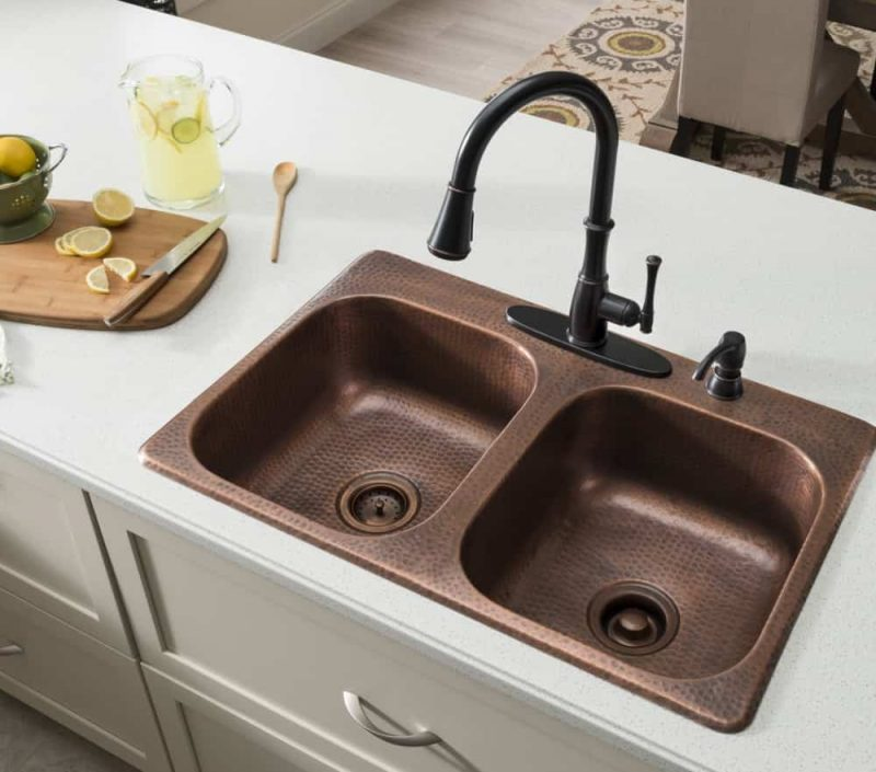Sinkology Raphael Dual Mount Copper Kitchen Sink