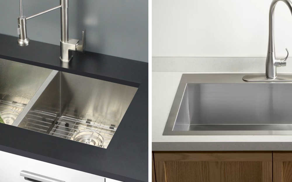 Undermount Sink Next To A Drop In