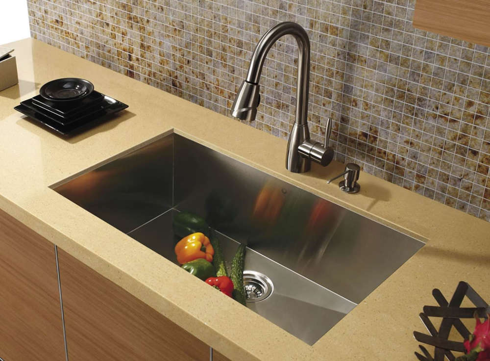 VIGO 30 Inch Undermount Single Bowl Stainless Steel Sink