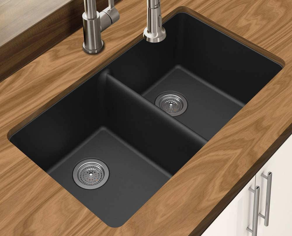 Winpro new black granite quartz composite sink